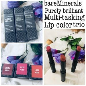 bareMineral purely brilliant multi task lip colors